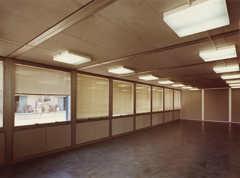 Előregyártott építmény belső tere