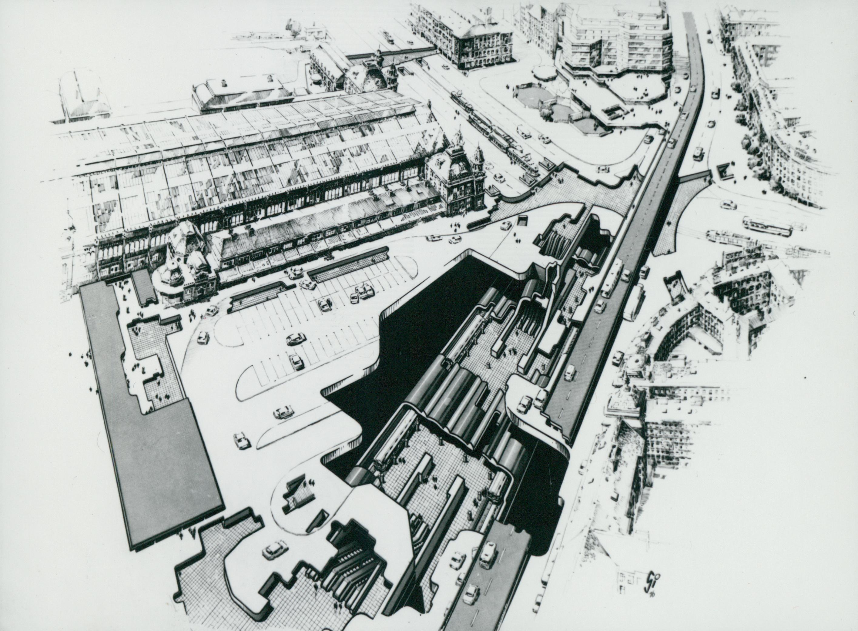 A Nyugati tér izometrikus rajza