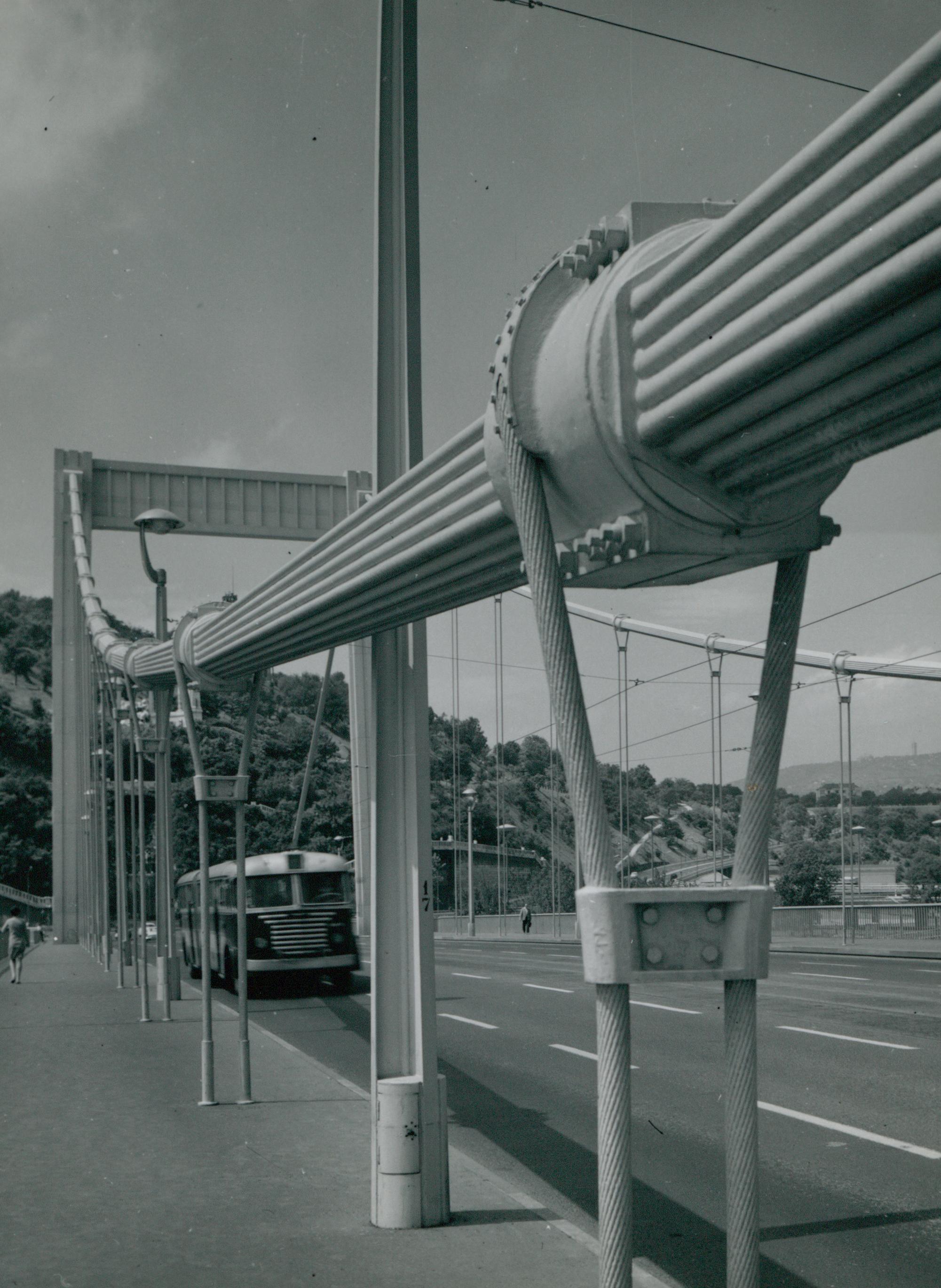 Az Erzsébet híd függesztőkábelei