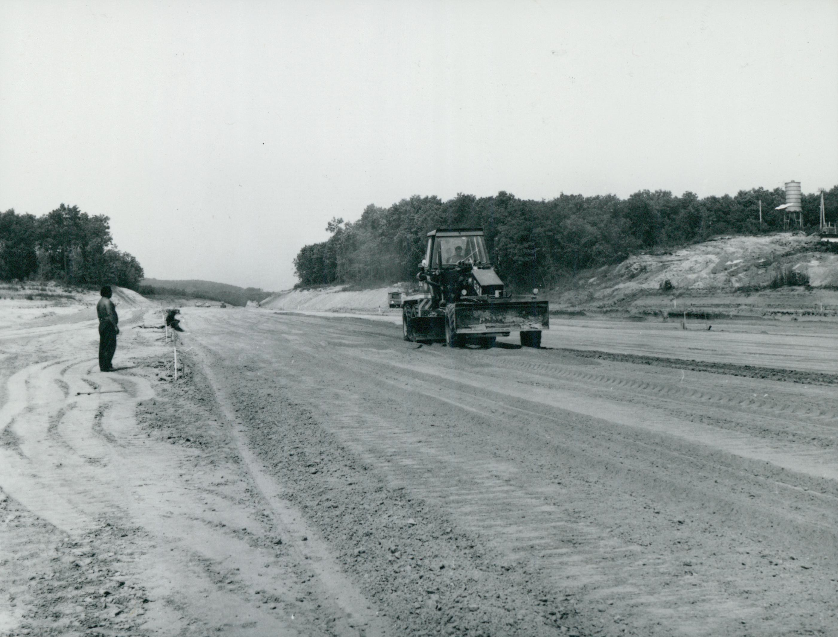 Az M1-es autópálya építése