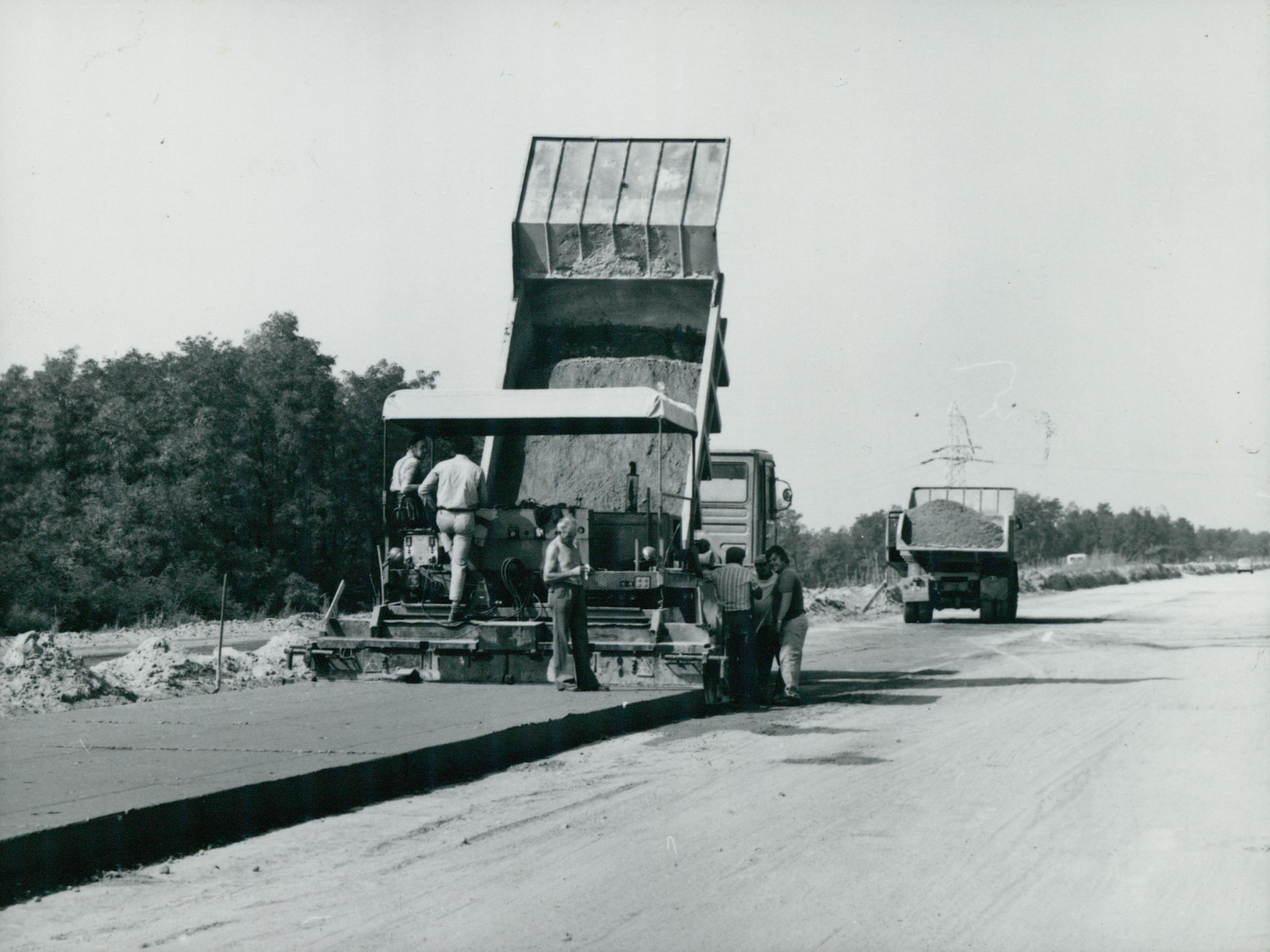 Az M5-ös autópálya építése