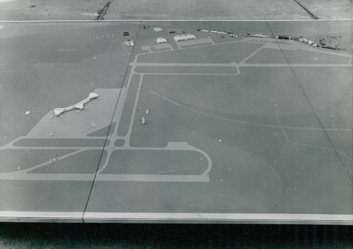 A ferihegyi repülőtér komplex makettja