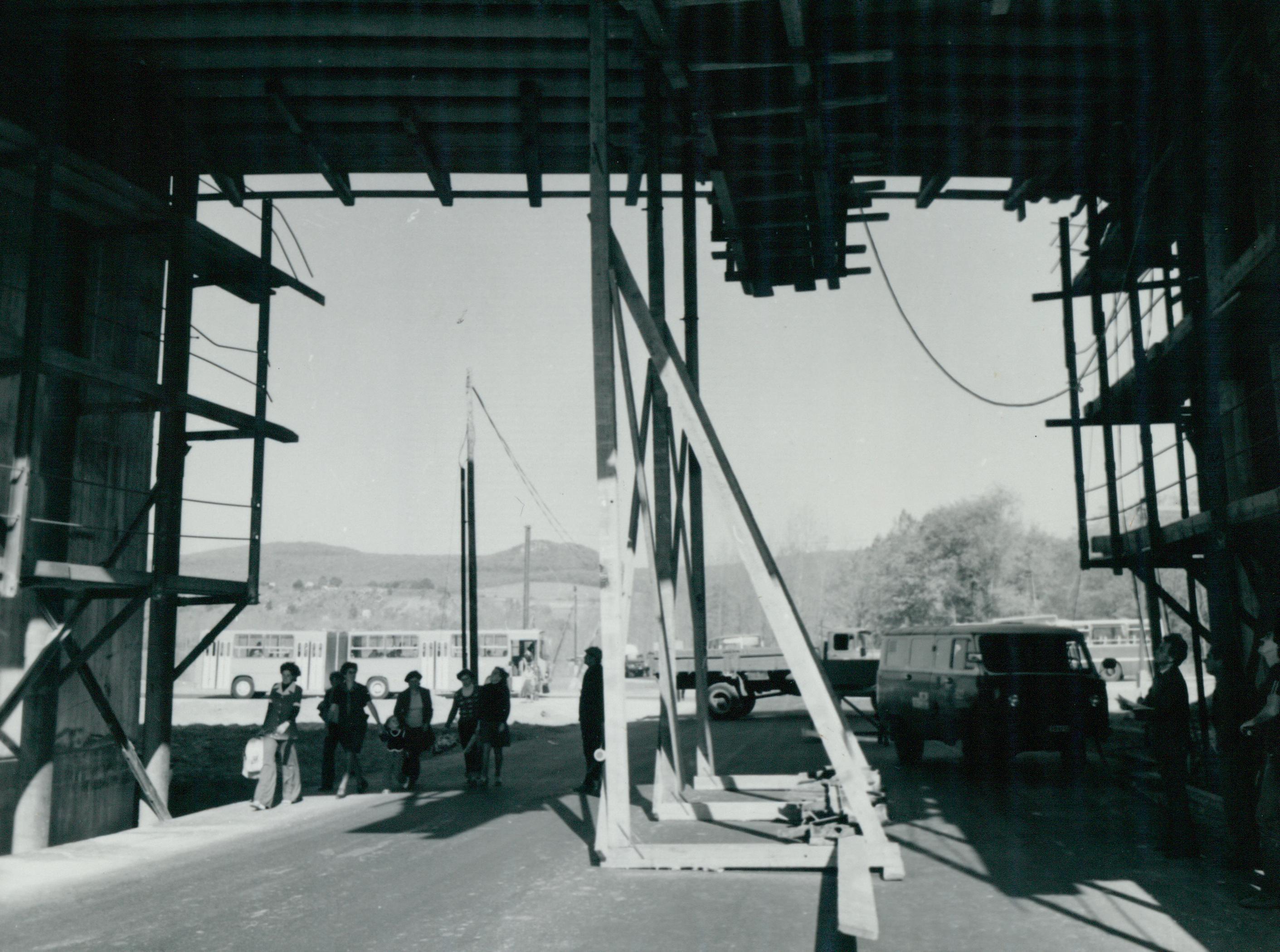 A tatabányai vasúti híd teherpróbája