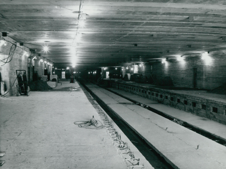 A 3-as metró Pöttyös utcai szakaszának építése