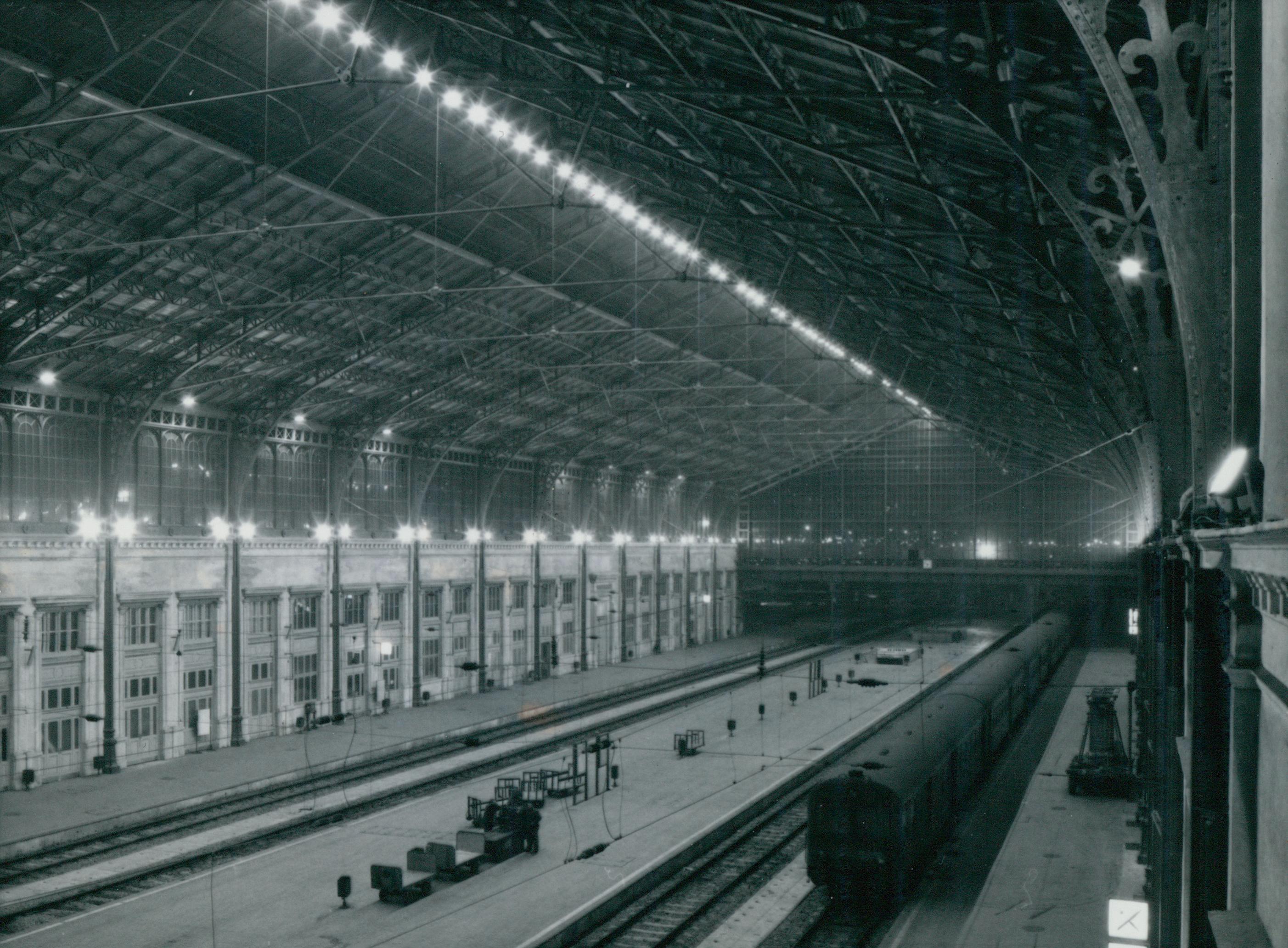 A Nyugati pályaudvar világításának rekonstrukciója