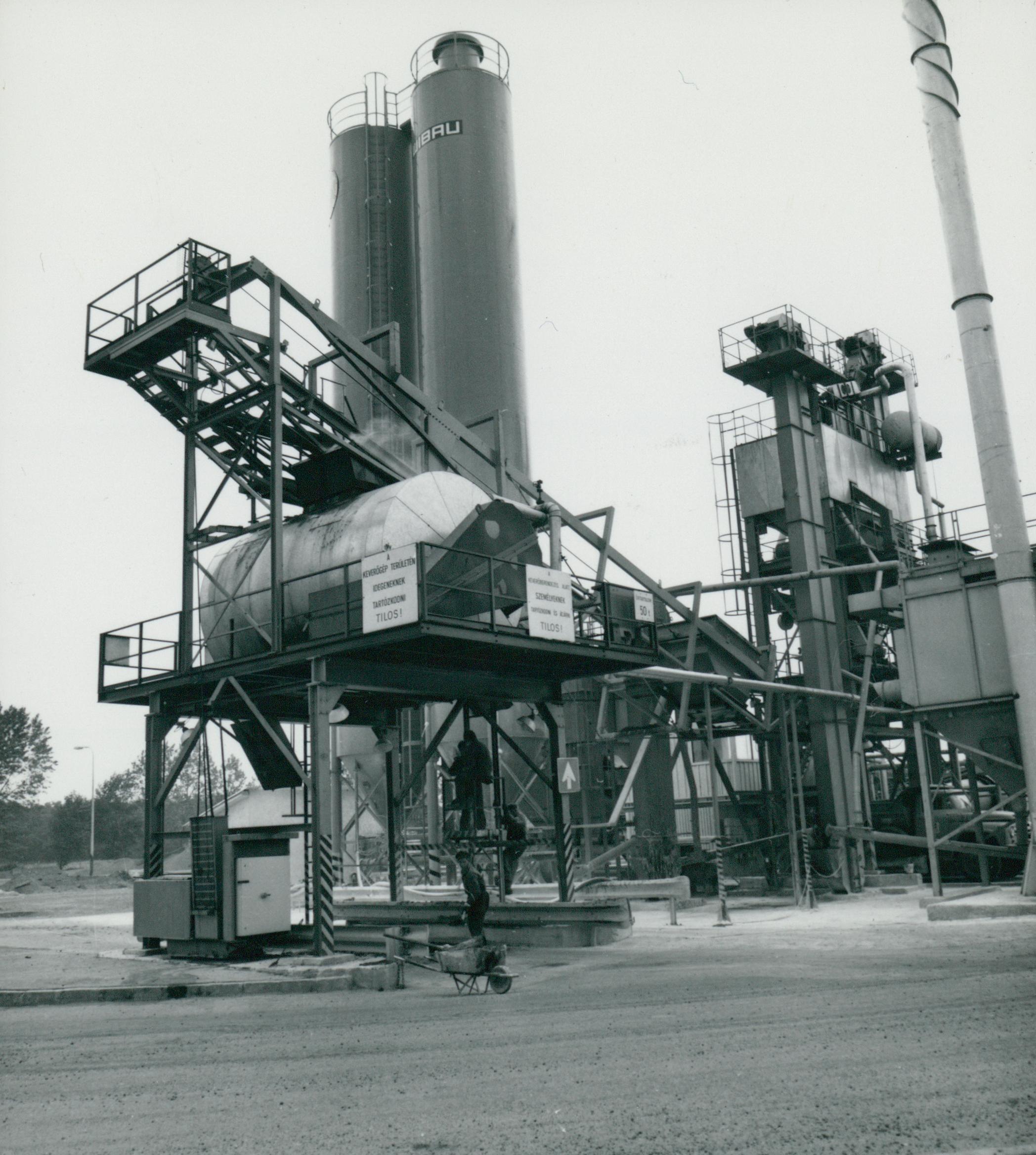 A Lőrinci úti aszfaltgyártótelep szállító szalagja