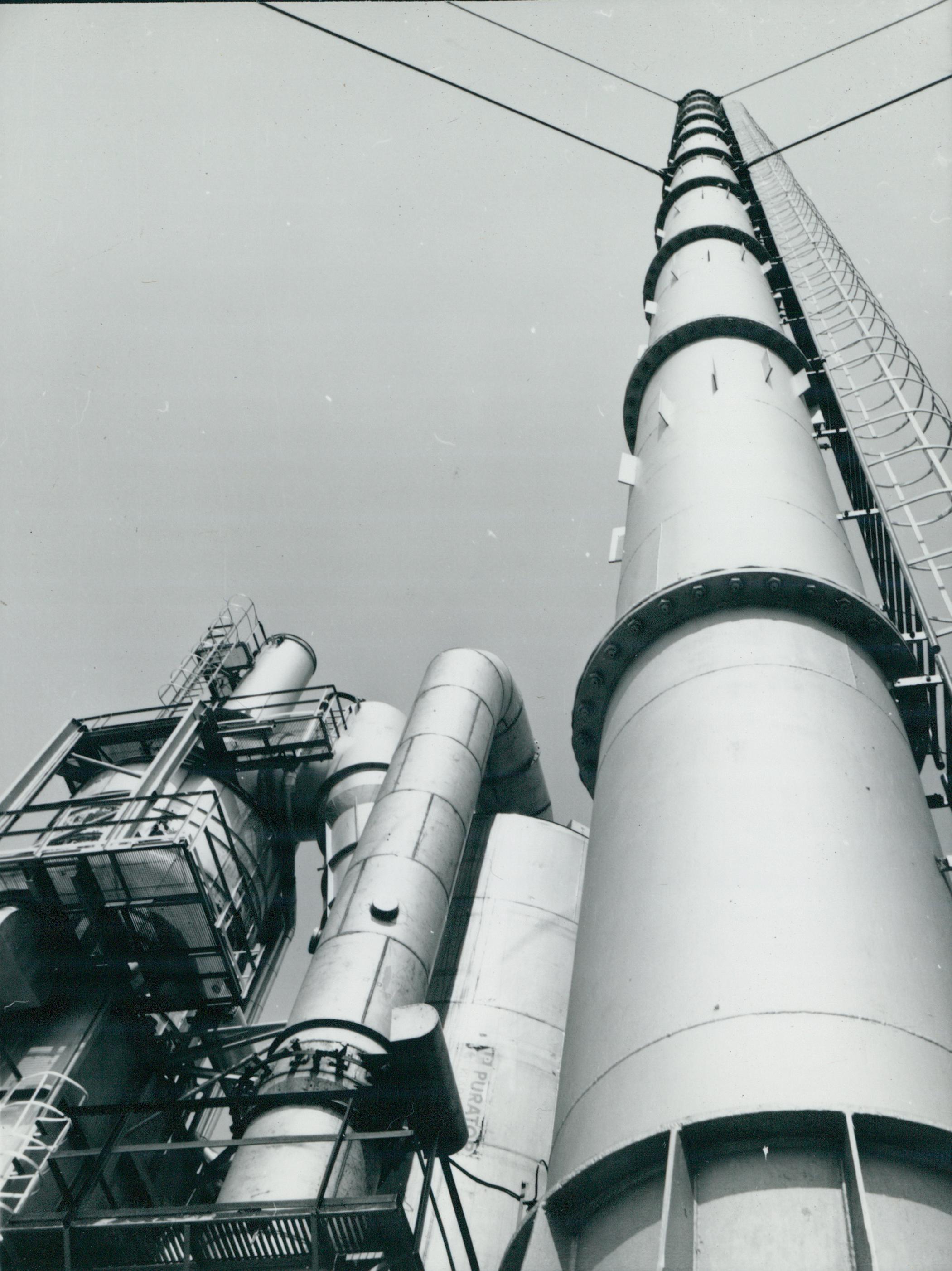 A Dunai Kőolajipari Vállalat hulladékégető berendezése