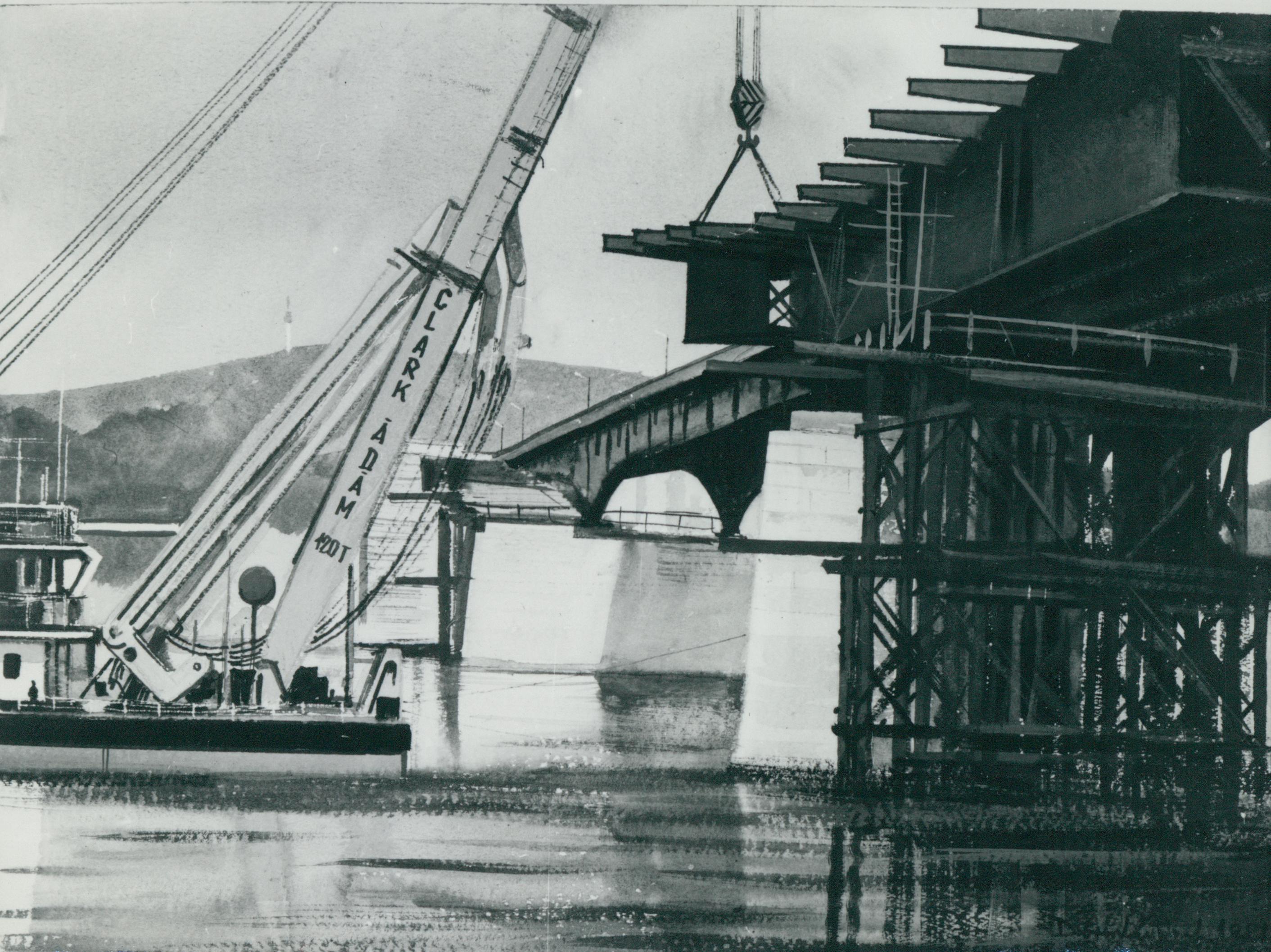 Az Árpád híd építésének terve