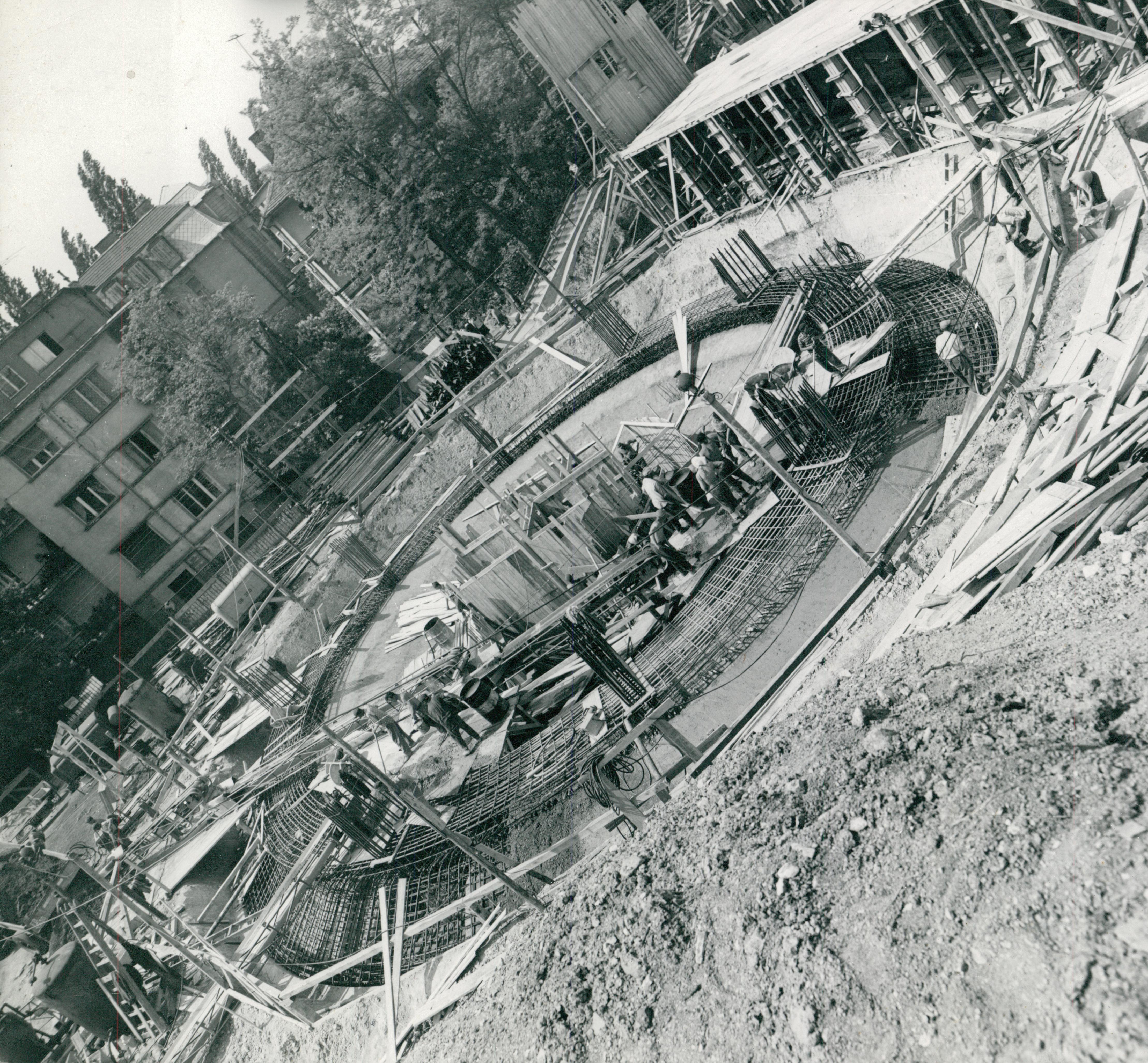A Hotel Budapest (Körszálló) építése