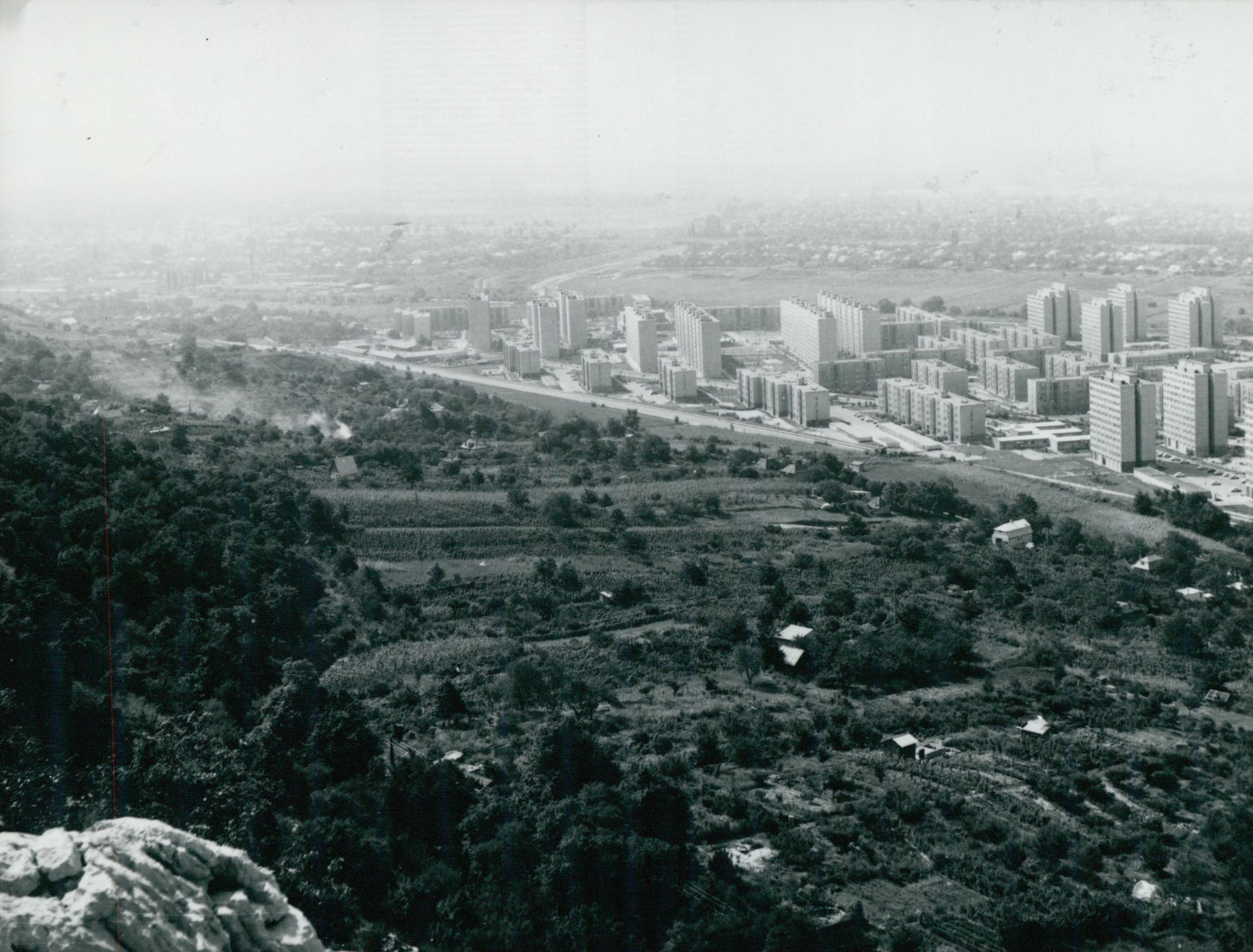 Tatabánya látképe a Kő-hegyről