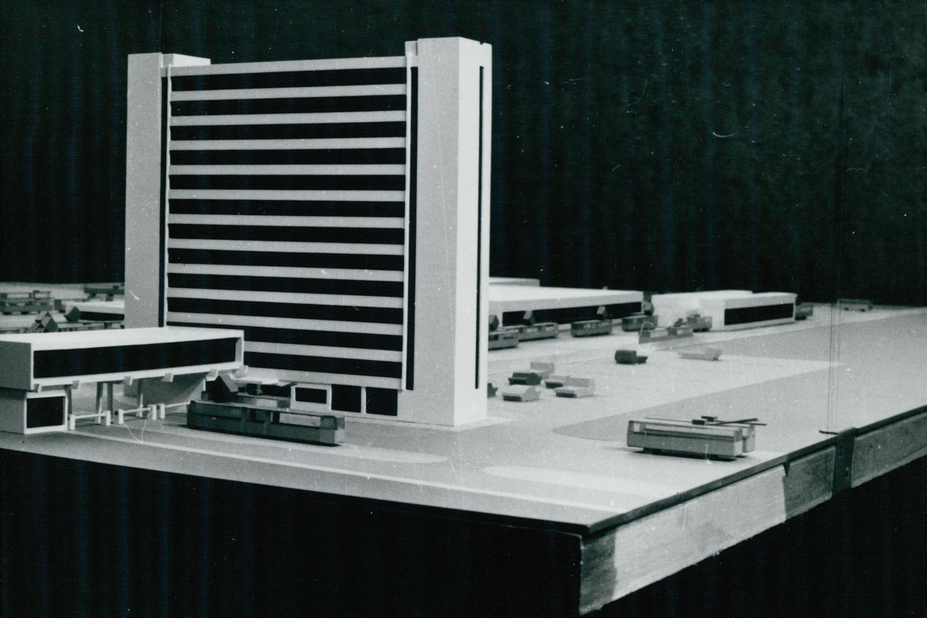 A szegedi Közlekedési Vállalat Komplex forgalmi telepének makettje