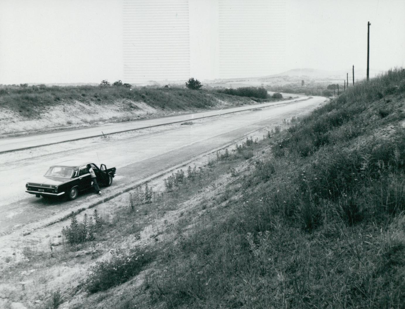 Az épülő M3-as autópálya nyomvonala