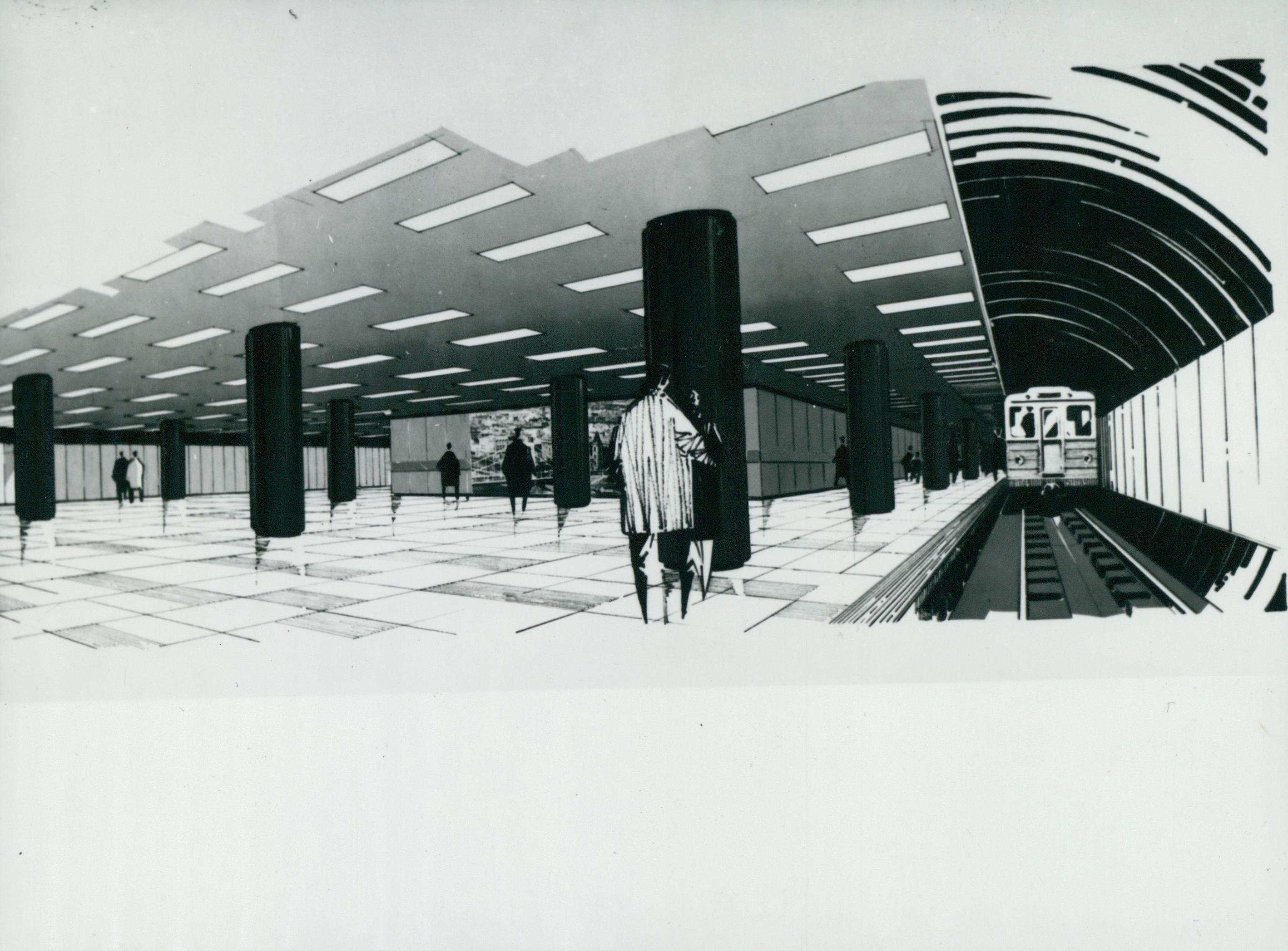 A 3-as metró Nagyvárad téri állomásának látványterve