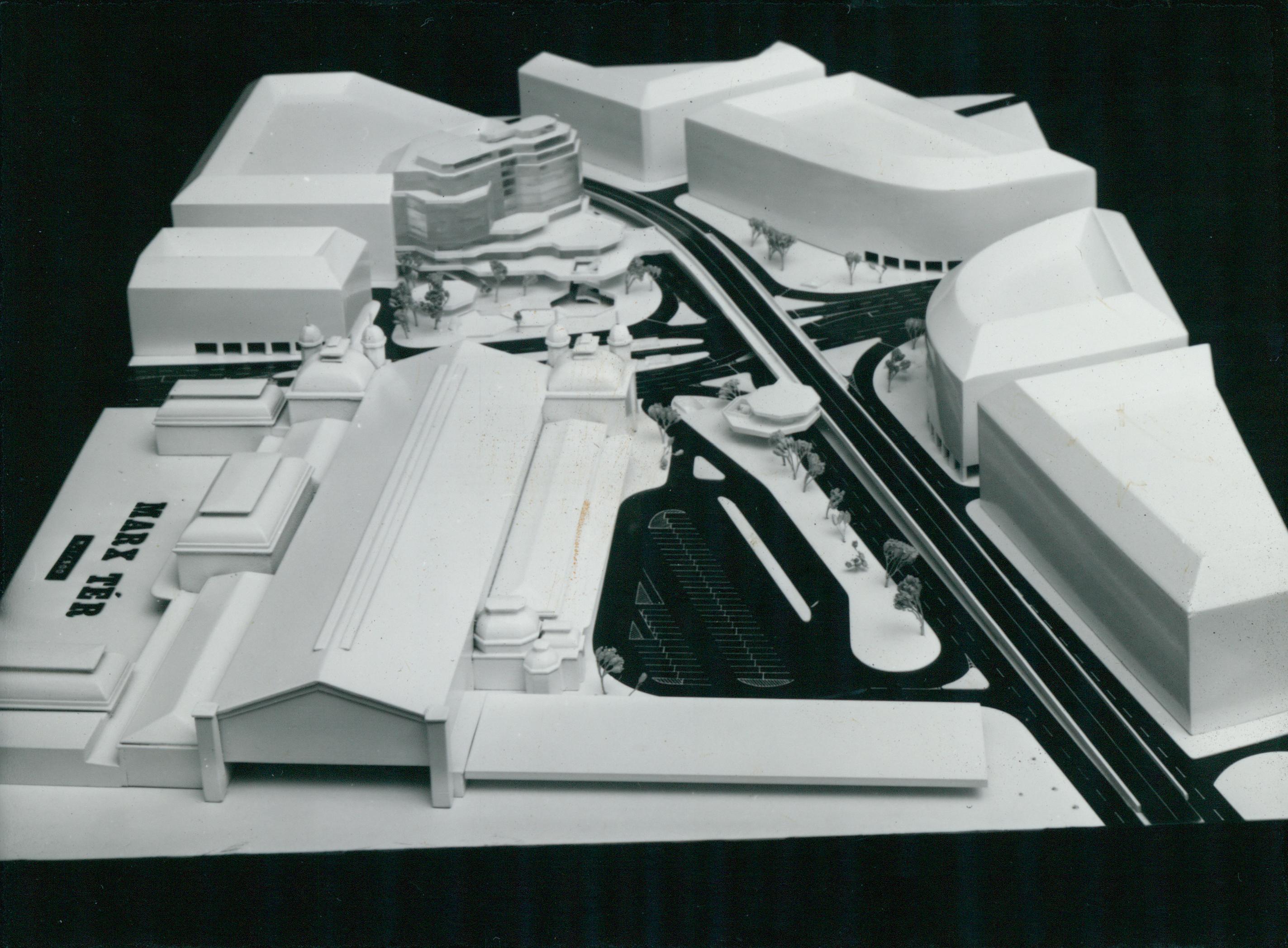 A Nyugati tér rendezési tervének modellje
