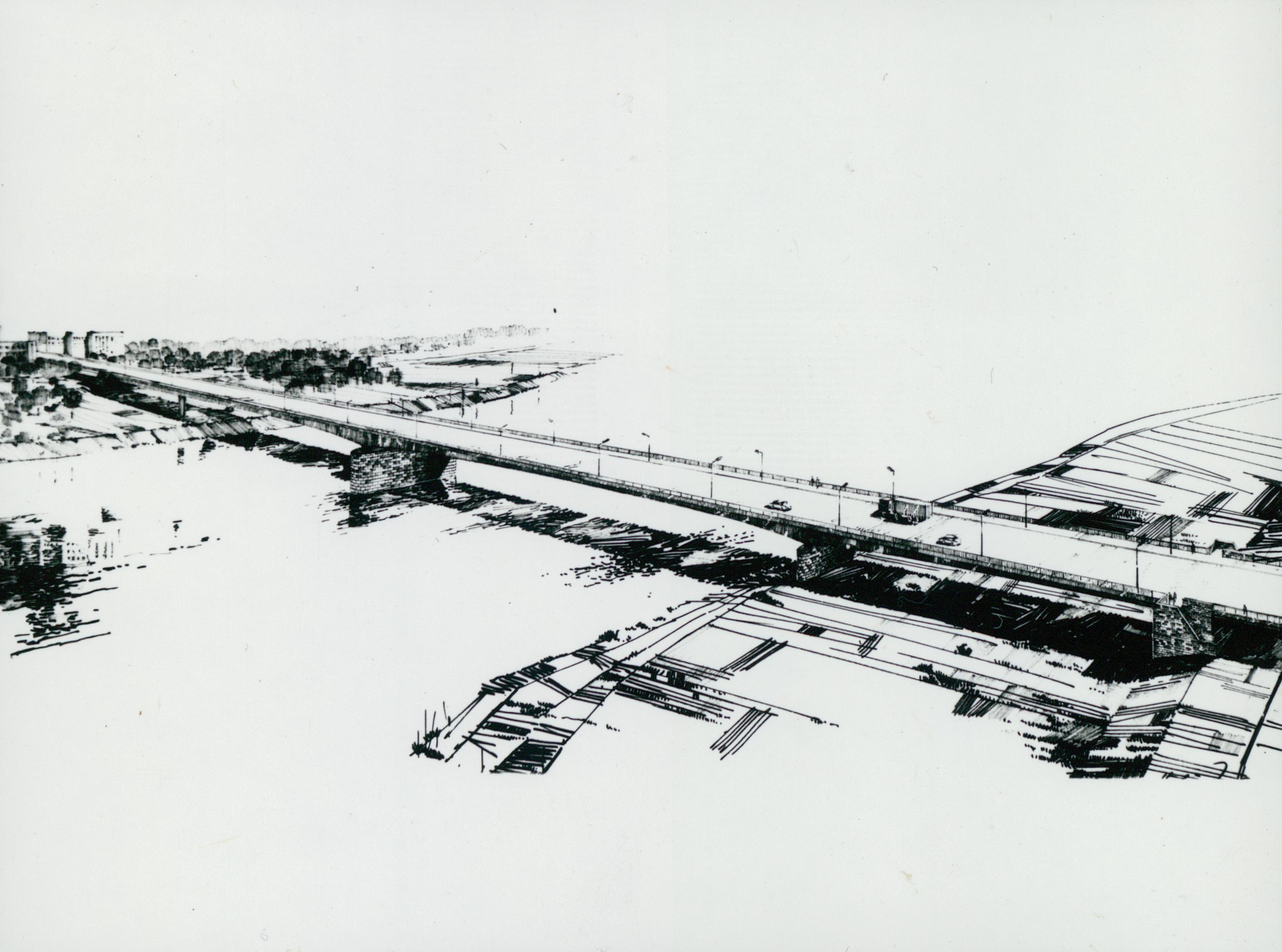 A szegedi új Tisza-híd rajza