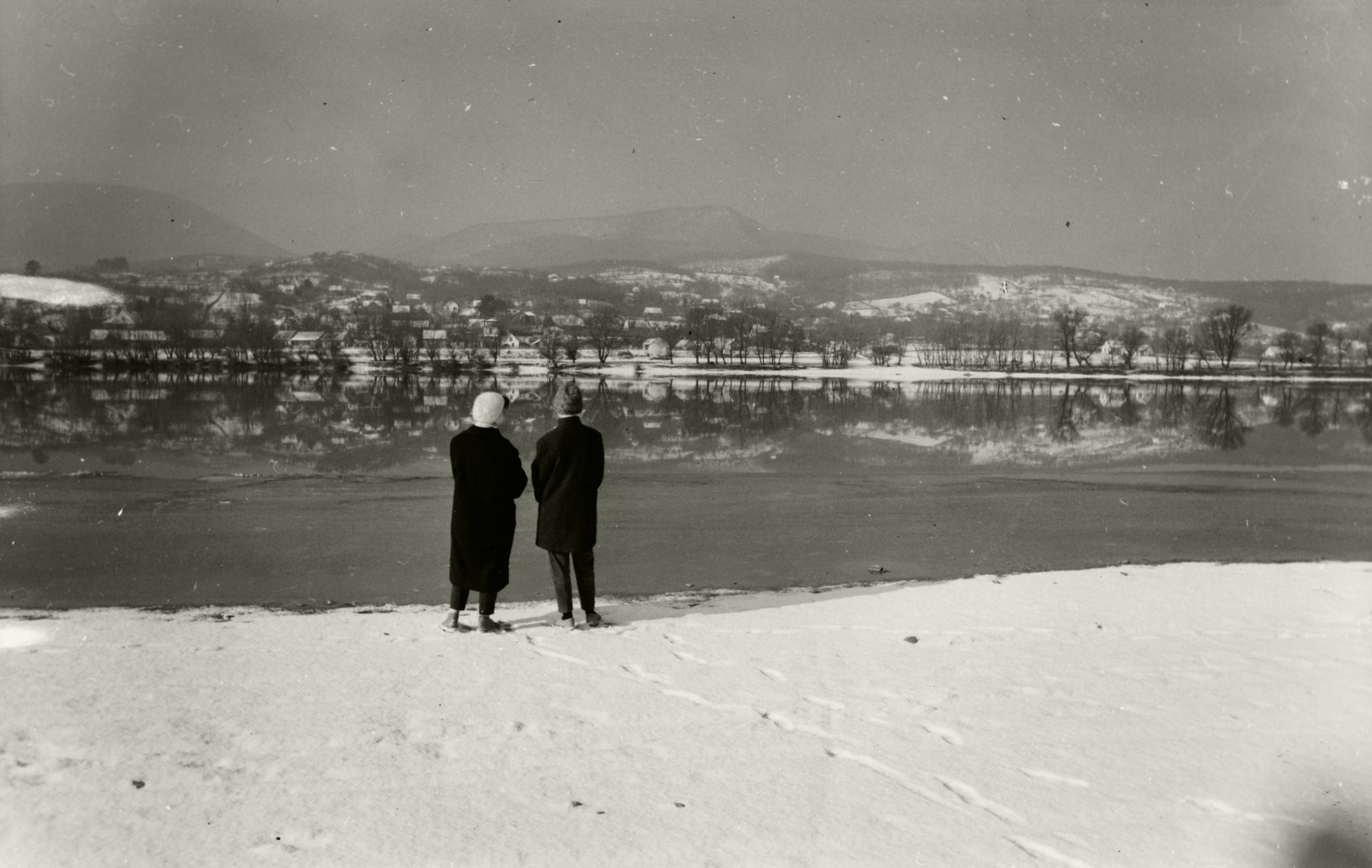 Leányfalui Duna-part télen