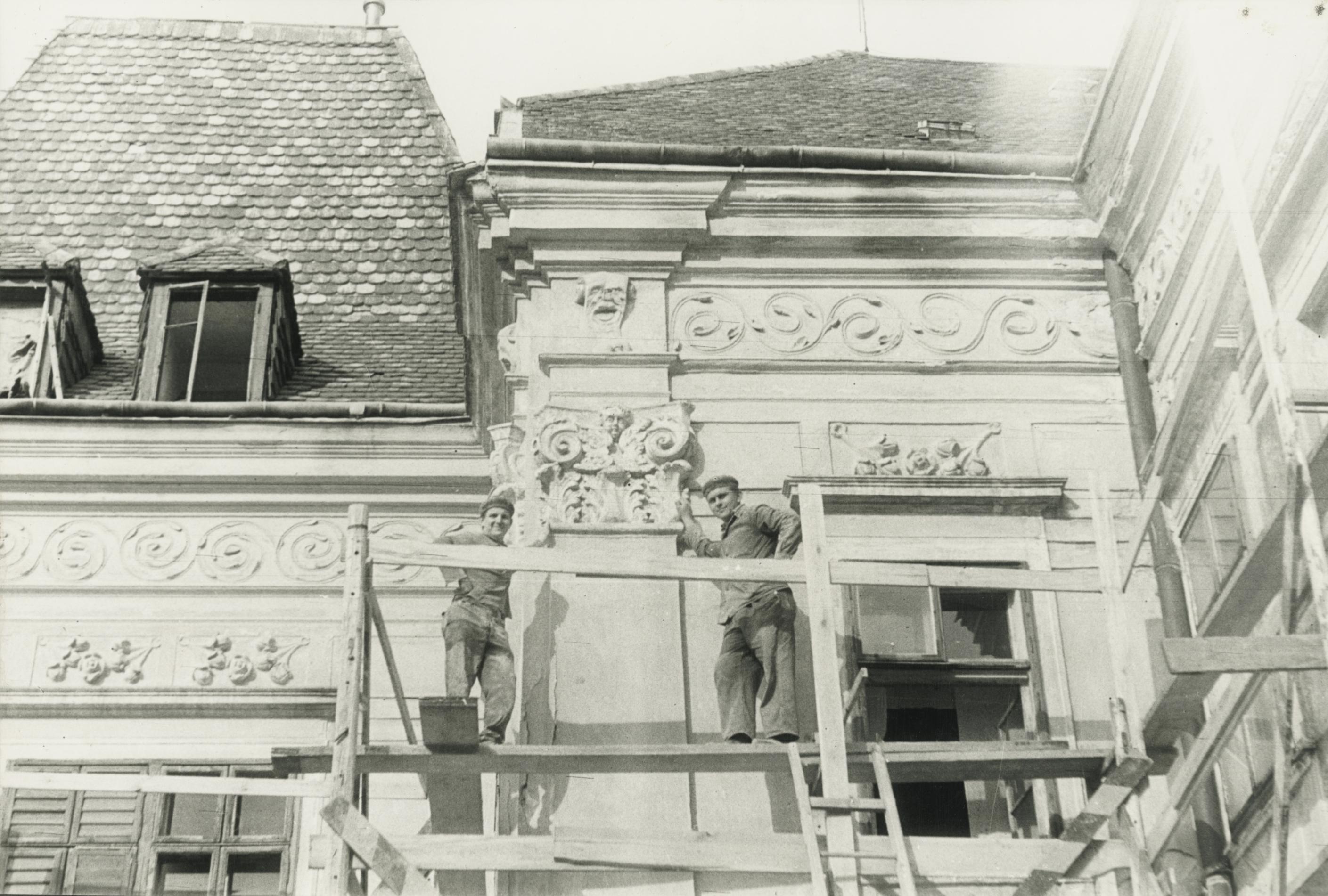 Bük, volt Szapáry-kastély, restaurálási munkálatok