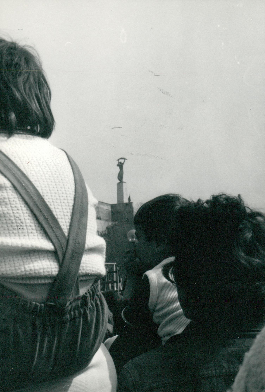 Ifjúsági nagy gyűlés a Gellért hegyen és az április 4.-i felvonulás képei