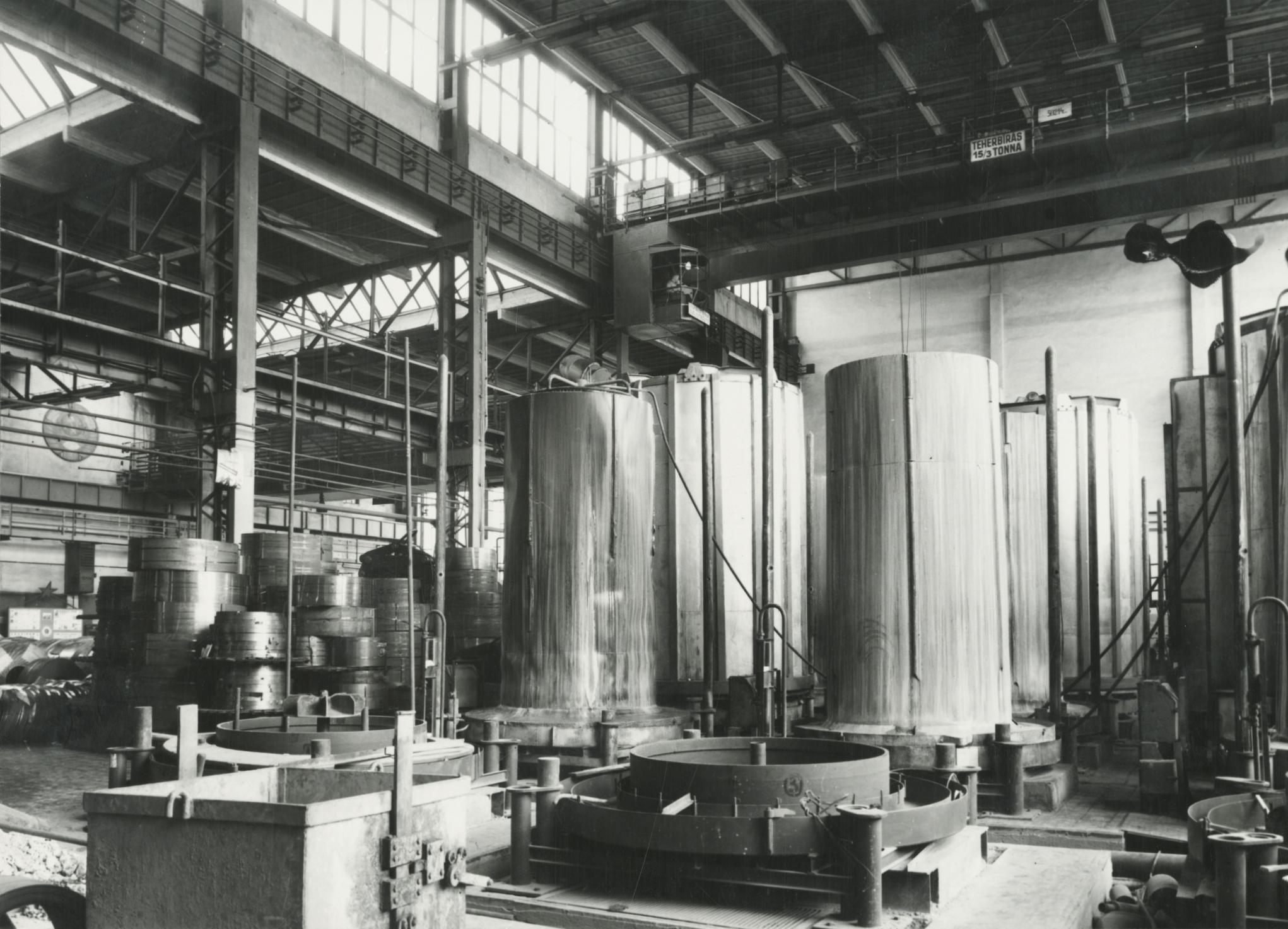 Salgótarjáni acélgyár belső csarnoka