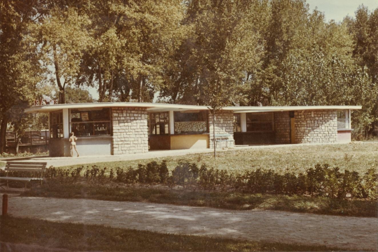 Bazár a balatonalmádi Központi Park területén