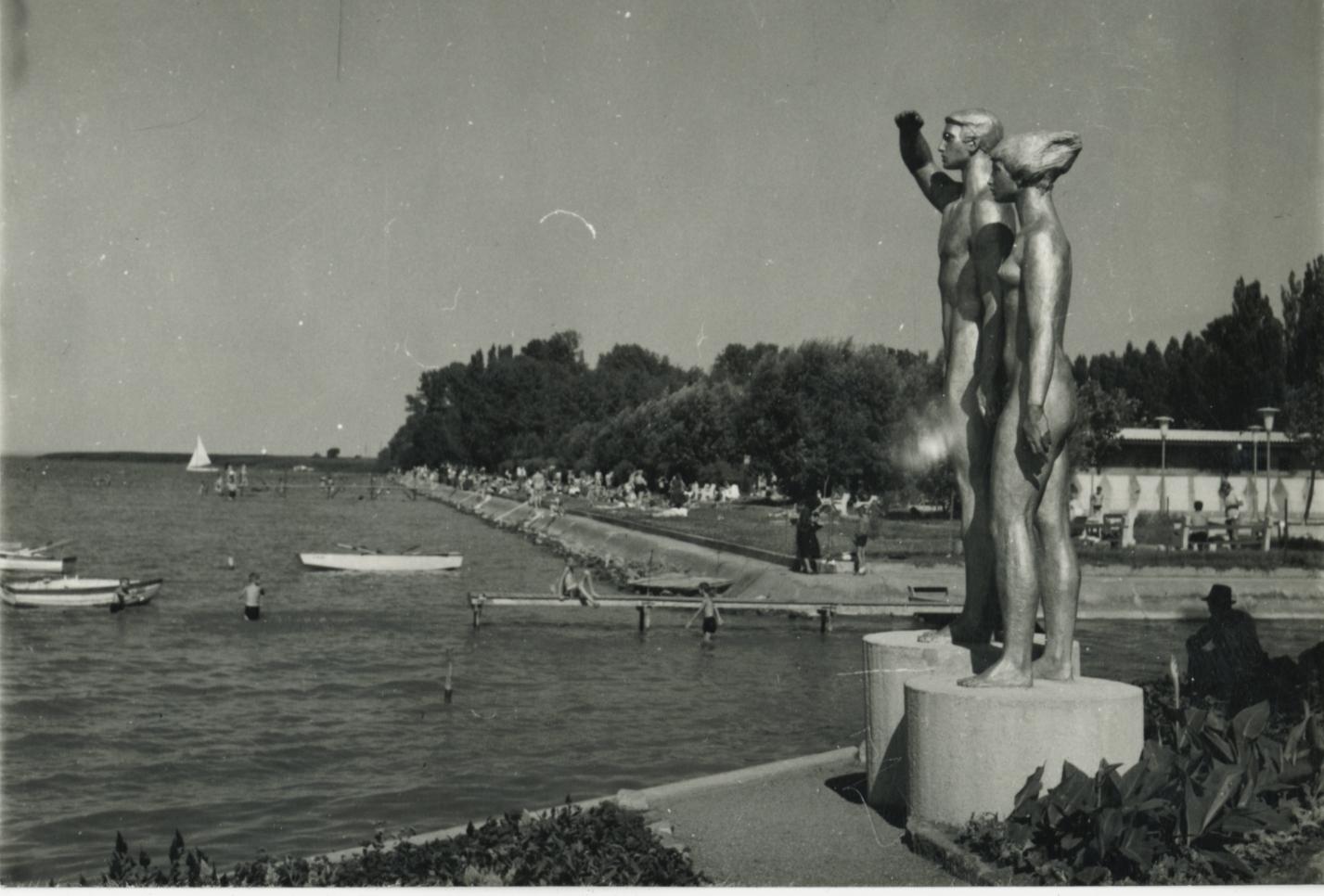 A fonyódi strand az 1960-as években