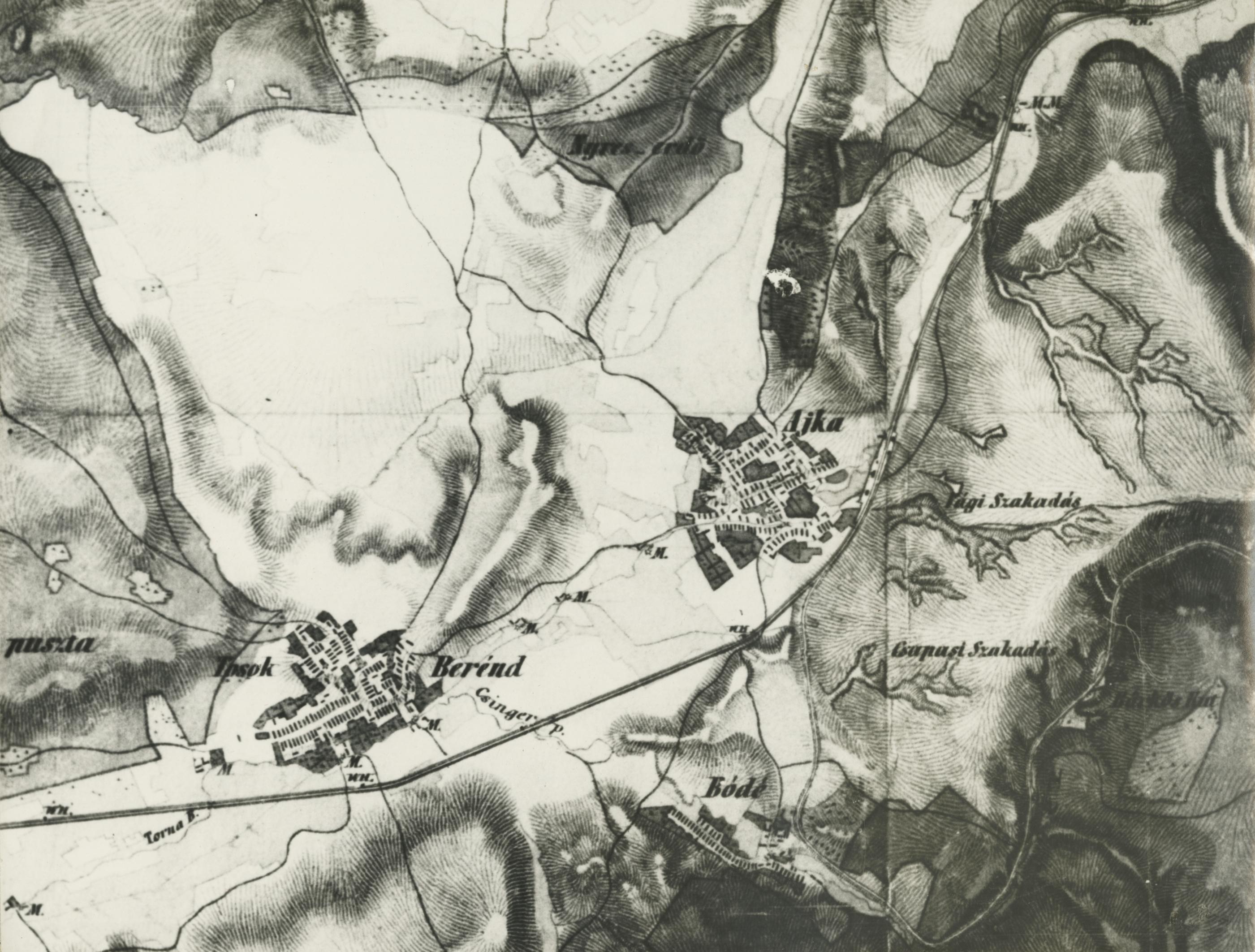 Ajka jozefinista térképe 1784-ből