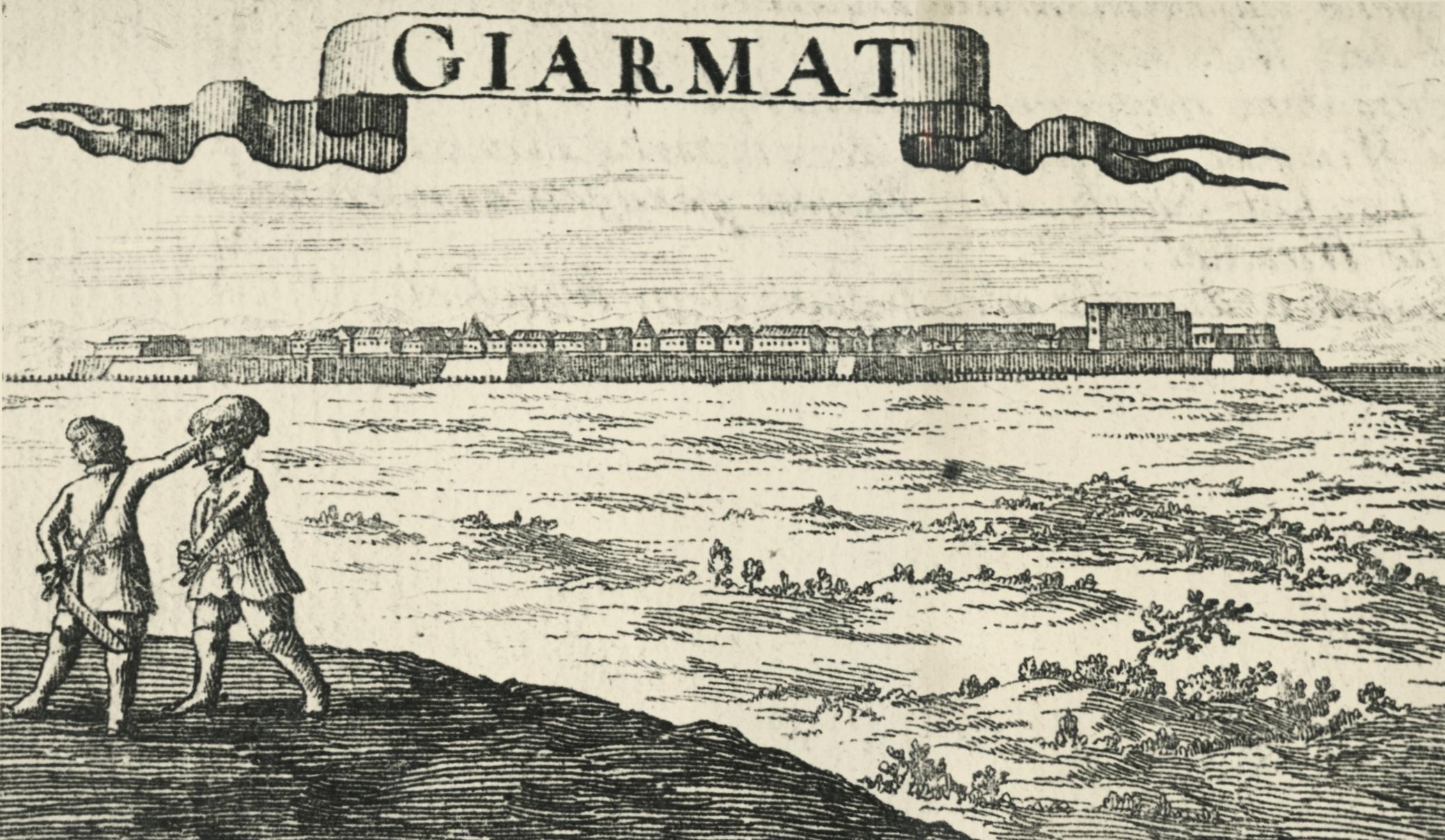 Balassagyarmat a XVII. században Ambling G. K. rézmetszetén (1698)