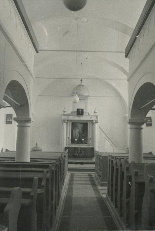 A mencshelyi evangélikus templom belső tere