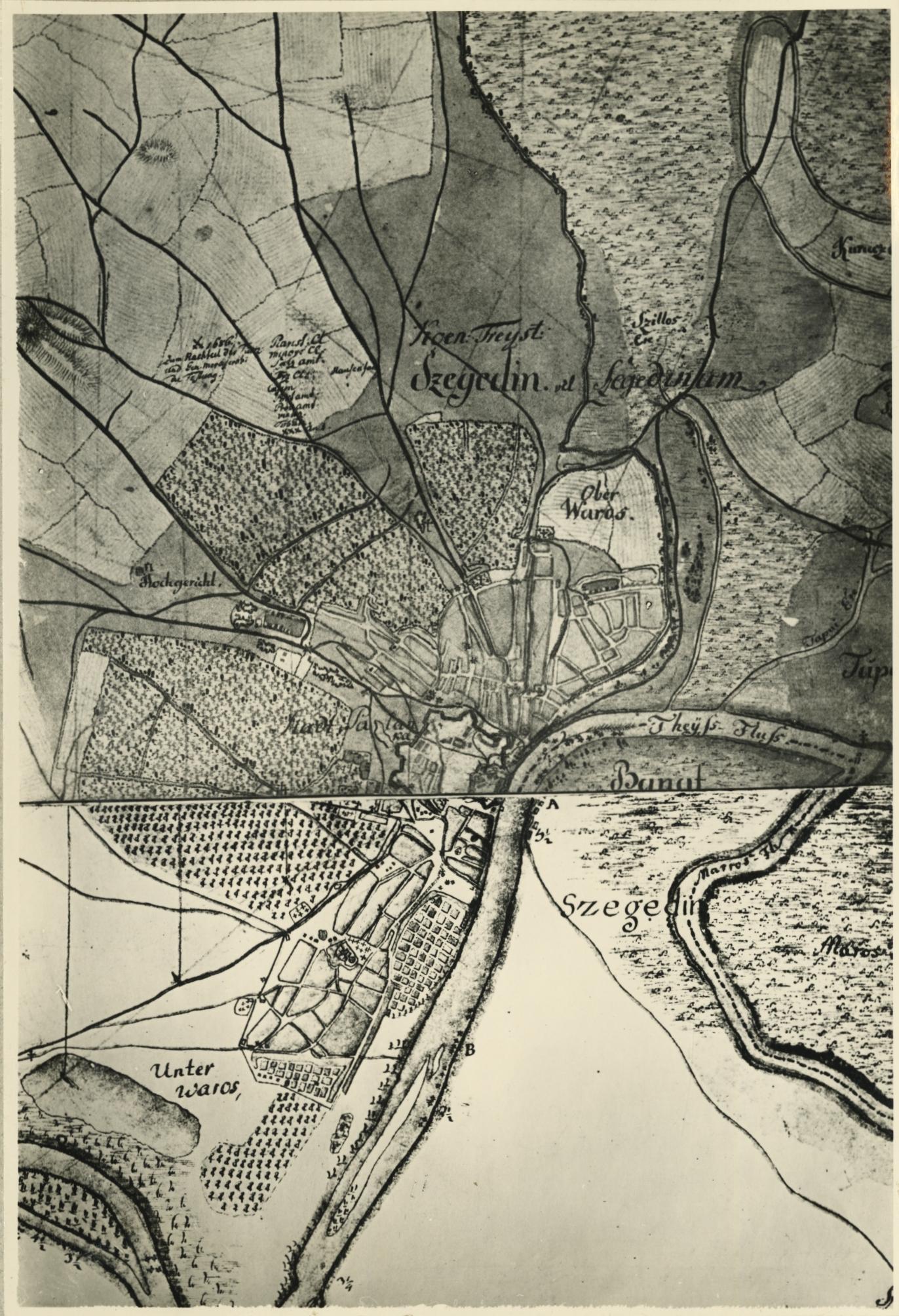 Szeged jozefinista térképe 1783-84-ből
