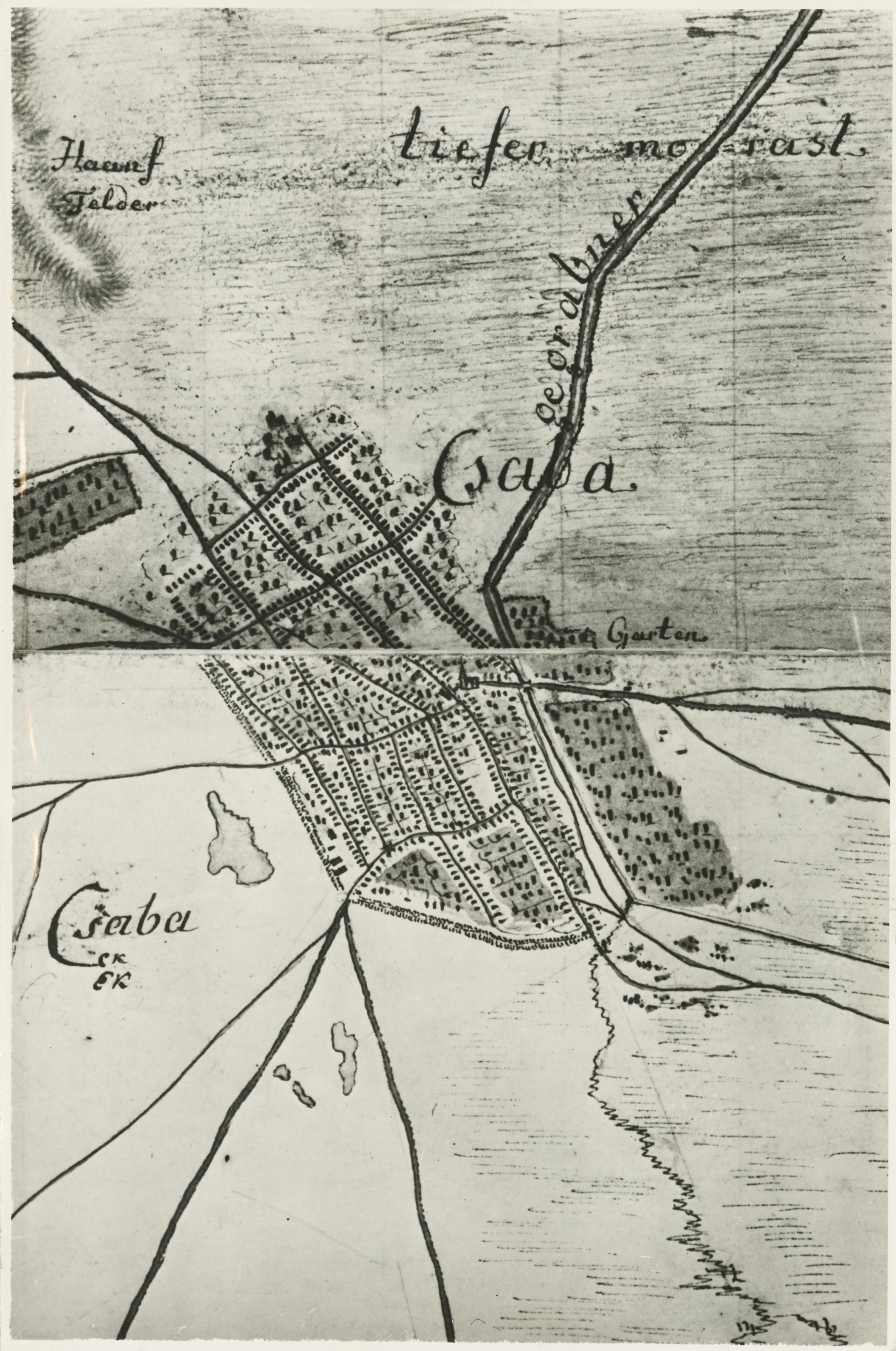 Békéscsaba egy 1783-as térképen