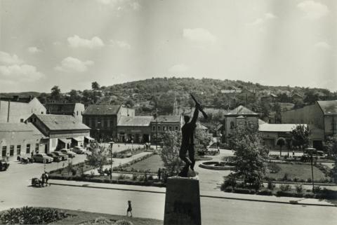 Salgótarján, egykori Tanácsköztársaság tér látképe