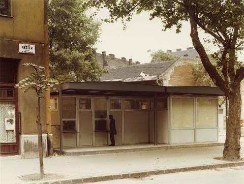 Előregyártott építmény a Budapest IX. kerületi Mester utcában