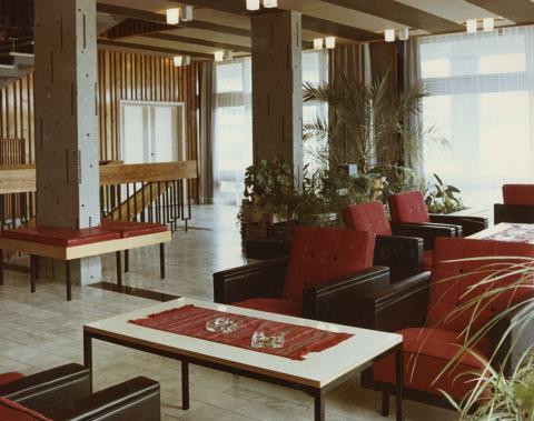 Balatonfüredi Építők üdülő belső tere