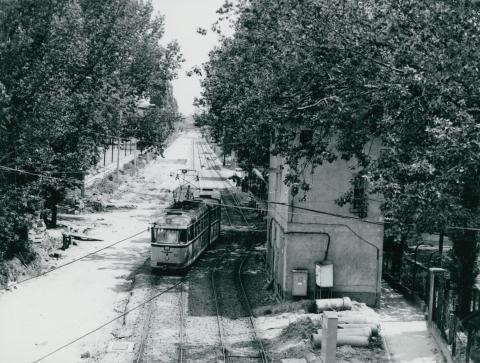 A szegedi Pulz utca az Izabella hídról nézve