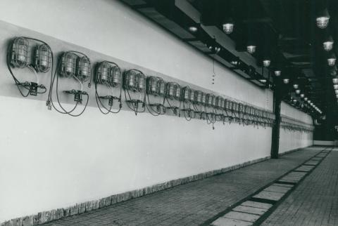 A Cservenka utcai targoncaszervíz műhelye