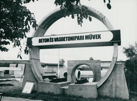 A kelenföldi épületelemgyár portája