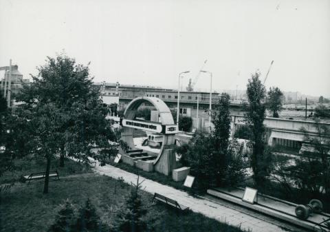A kelenföldi épületelemgyár látképe