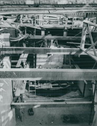 A 3-as metró Markusovszky téri szellőzőjének építése