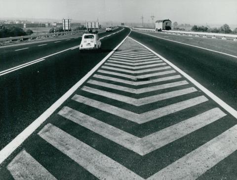 Az M1-es autópálya felhajtója