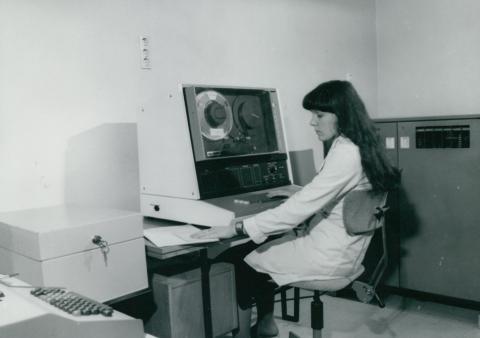 Az UVATERV programkönyvtára és adatrögzítő gépterme