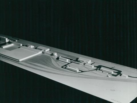 A 3-as metró káposztásmegyeri járműtelepének modellje