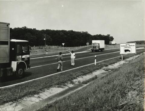 Hatósági ellenőrzés az M1 autópályán