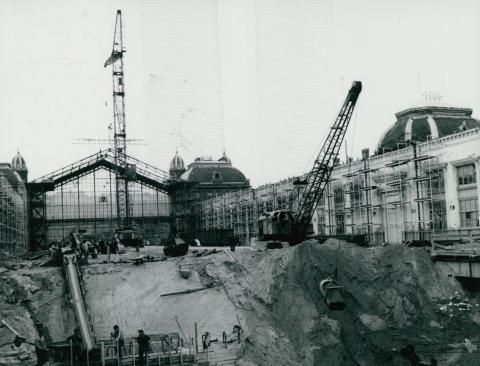 Aluljáró kialakítása a Nyugati pályaudvar felújítása közben