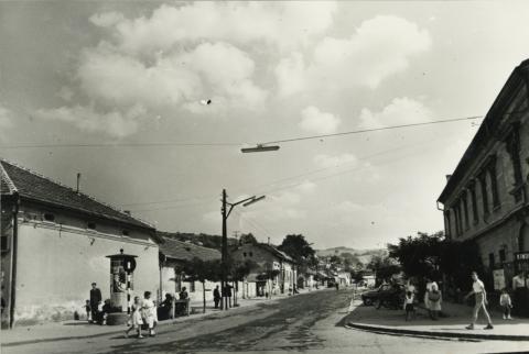 Pécskő utca látképe Salgótarjánban