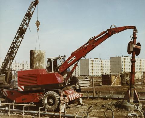 Lakótelep építkezés Székesfehérváron