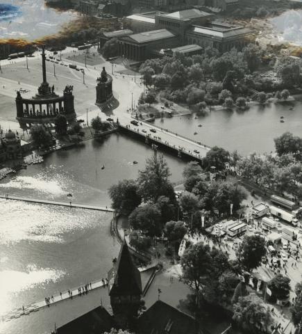 Városligeti-tó, a Hősök tere és a Szépművészeti Múzeum