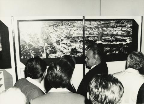 Komló város építése kiállítás