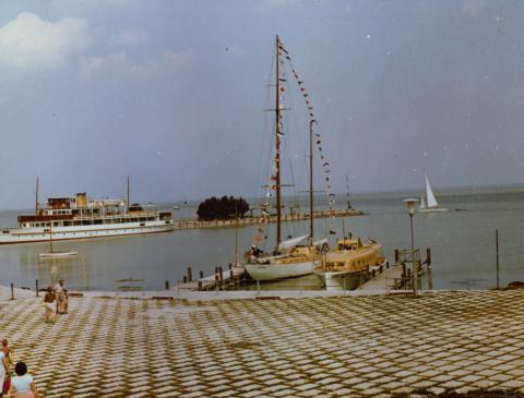 A tihanyi móló és hajókikötő