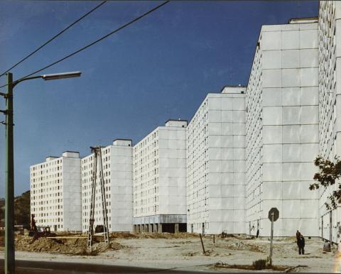 Szovjet házgyári lakóházak Diósgyőrön