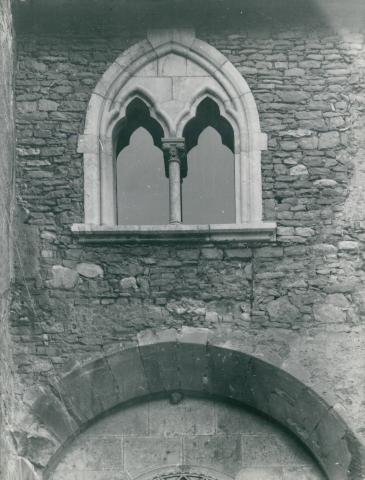A Tatai vár homlokzatának részlete